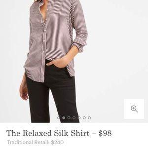 Everlane Relaxed Silk Buttonup Shirt